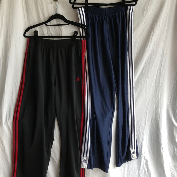 Men's L Adidas pants with button down sides